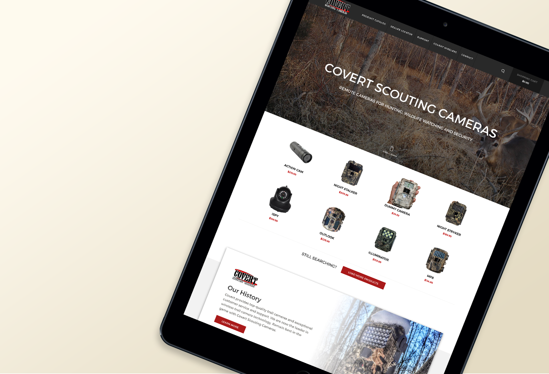 Covert Scouting: Website Redesign